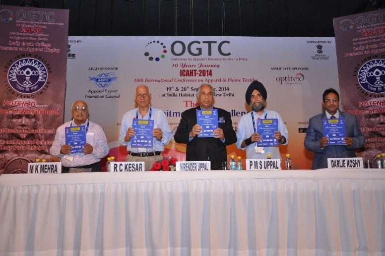 RELEASING THE CONFERENCE OF SOUVENIR BY CHIEF GUEST L T R MR. M K MEHRA, MR. R C KESAR, MR. P M S UPPAL AND DR. DARLIE KOSHY