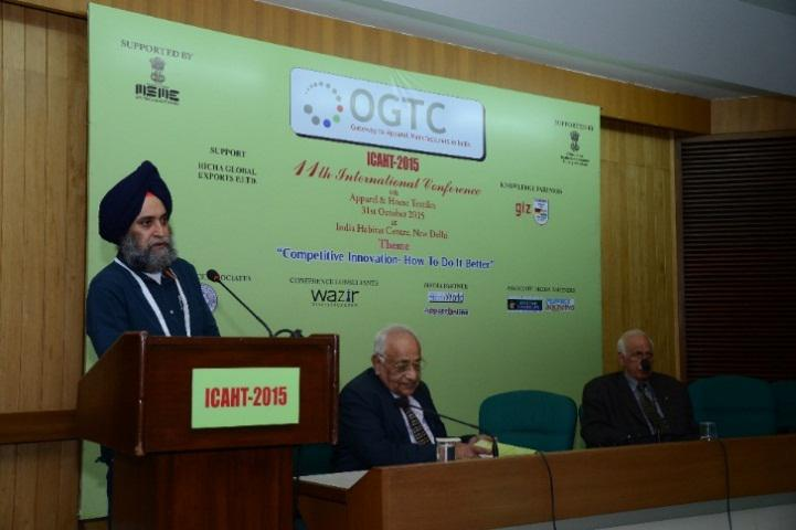 Mr. P. M. S Uppal, President OGTC Addressing the conference L T R Mr. M K Mehra and Mr. R C Kesar