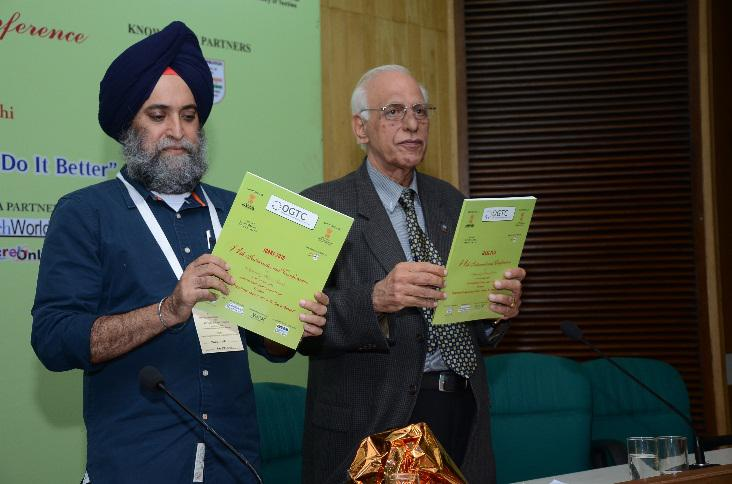 Releasing the Conference Souvenir by Mr. P. M. S Uppal, President OGTC and Mr. R C Kesar, Director General OGTC
